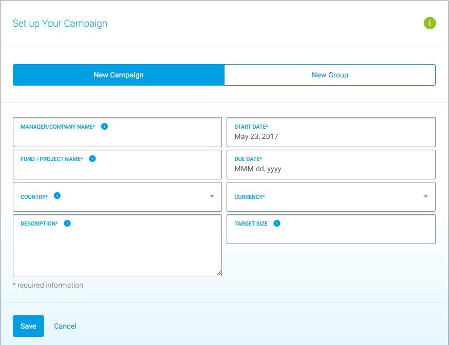 Campaign: Create Campaign